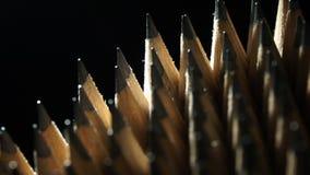 Lápis da grafite na rotação vídeos de arquivo