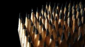 Lápis da grafite na rotação video estoque