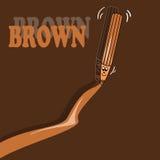 Lápis de Brown Fotos de Stock