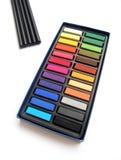 Lápis de carvão vegetal dos pastels do artista Imagem de Stock Royalty Free