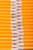 Lápis de madeira amarelo Fotos de Stock