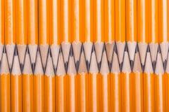 Lápis de madeira amarelo Foto de Stock