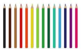Lápis de madeira coloridos vetor Fotografia de Stock