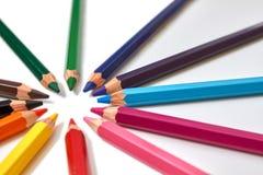Lápis de madeira da cor imagem de stock