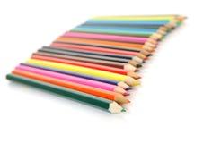 Lápis de madeira da cor fotos de stock royalty free