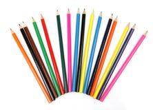 Lápis de madeira da cor foto de stock royalty free