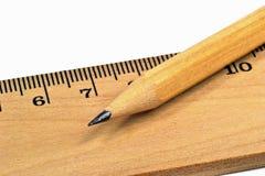 Lápis de madeira da imagem macro Imagens de Stock