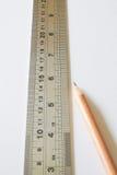Lápis de papel 3 da régua Foto de Stock