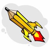 Lápis de Rocket Imagens de Stock