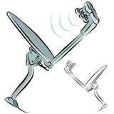 A lápis desenho do prato satélite Fotografia de Stock Royalty Free