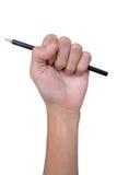 Lápis do aperto do lápis no punho. isolado Imagens de Stock