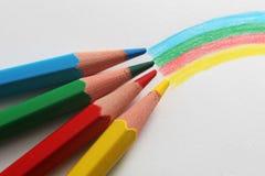 Lápis do arco-íris Fotografia de Stock Royalty Free