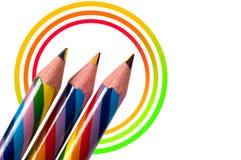Lápis do arco-íris Imagens de Stock Royalty Free