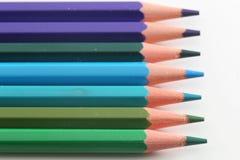 Lápis dos azuis Imagem de Stock Royalty Free