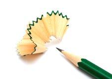 Lápis e aparas Fotografia de Stock