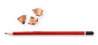 Lápis e aparas Imagens de Stock
