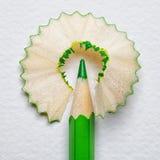 Lápis e aparas Fotos de Stock