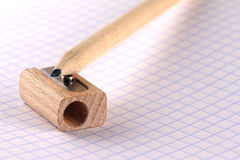 Lápis e apontador Imagem de Stock