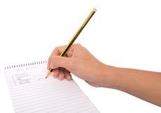 Lápis e bloco de notas III Imagens de Stock Royalty Free
