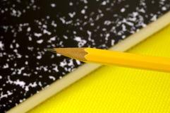 Lápis e caderno foto de stock