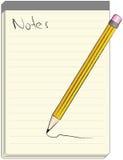 Lápis e caderno Fotos de Stock Royalty Free
