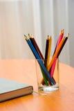 Lápis e caderno imagem de stock royalty free
