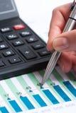 Lápis e calculadora Imagens de Stock Royalty Free