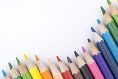 Lápis e desenho da cor Fotografia de Stock Royalty Free