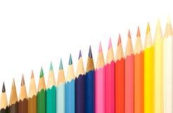 Lápis e diagonal. Foto de Stock