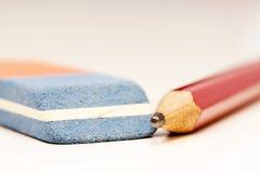 Lápis e eliminador Imagens de Stock