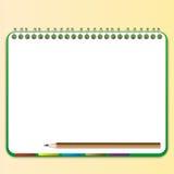 Lápis e endereço da Internet com caderno Fotos de Stock Royalty Free