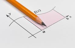 Lápis e gráfico fotografia de stock
