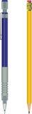 Lápis e lápis automático ilustração stock