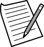 Lápis e papel Ilustração Stock