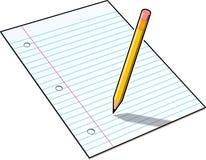 Lápis e papel Ilustração do Vetor