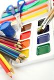 Lápis e pinturas fotos de stock
