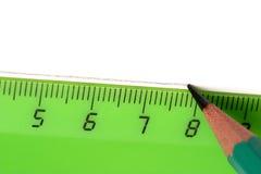 Lápis e régua Fotografia de Stock