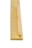 Lápis e régua de madeira Imagens de Stock Royalty Free