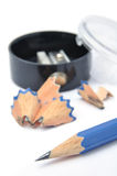 Lápis e sharpener Imagem de Stock