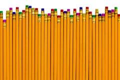 Lápis em alturas diferentes para vários erros Foto de Stock Royalty Free