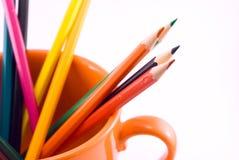 lápis em um copo imagem de stock