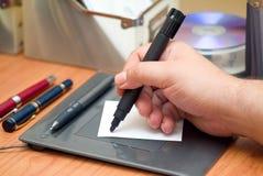 Lápis em uma tabuleta Imagem de Stock