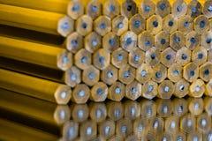 Lápis empilhados ordenadamente Fotografia de Stock Royalty Free