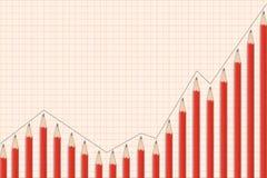 Lápis financeiro do gráfico Imagens de Stock
