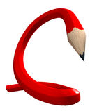 Lápis flexível vermelho Fotos de Stock Royalty Free