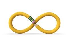 Lápis infinito Imagem de Stock