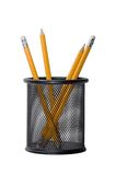 Lápis isolados no branco Fotos de Stock