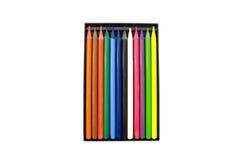 Lápis isolados no branco Imagens de Stock