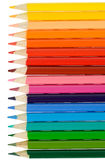 Lápis: Lápis coloridos em seguido Fotografia de Stock Royalty Free