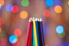 lápis Multi-coloridos Fotos de Stock
